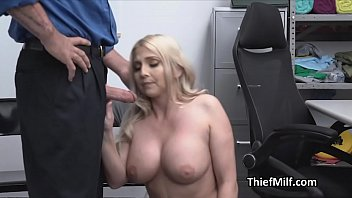 Big tit MILF blows cock for stealing a necklace
