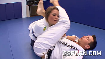 Sexy Megan Fenox fucked hard by the karate trainer