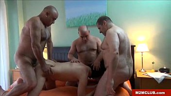My husband likes being gay - Horny daddies fucking a cub
