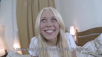 Young Blonde recorded while getting a Cock at Home