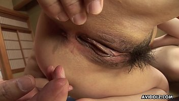 A precious Asian babe getting fucked in a group fuck