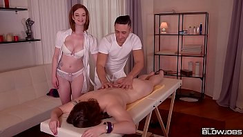 Best Blowjob At Massage Parlor With Horny Babes Lucia Love &amp_ Zara DuRose