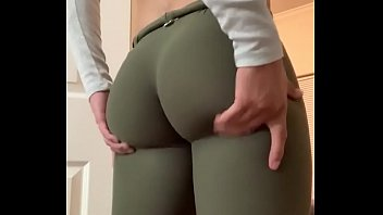 Sexy perfect ass in leggings