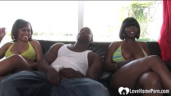 Ebony babe with big tits loves to ride