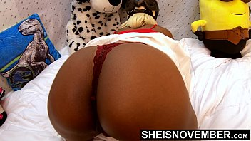 4k Please Pull My Panties Down Off Of My Cute Ebony Butt And Skinny Legs After You Squeeze My Juicy Ass Cheeks And Shake My Great Butt In Slow Motion , Look At My Shaved Pussy While My Thong Is At My Knees Msnovember HD Sheisnovember preview image