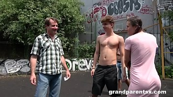 GrandParents Pick Up Teen on Basketball Court