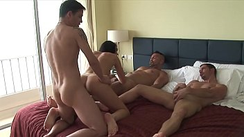 American swinger video - Three against one, the lady is full
