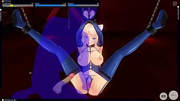 Halloween customes adult Big boob cat girl get punished - custom maid 3d 2