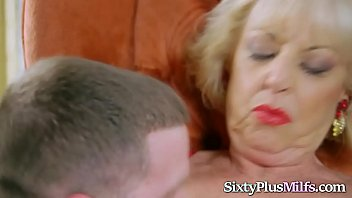 Super hot blonde granny enjoys fucking a big cock