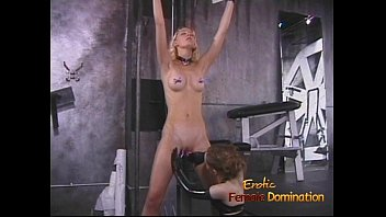 Latex desires - Desirable blonde playgirl enjoys being spanked hard by a brunette hussy