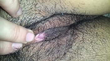 Picture of the clit - Wifes hairy pussy