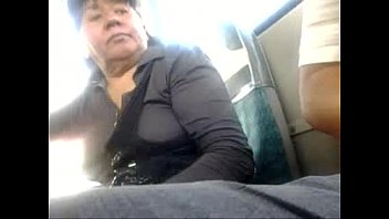 Mature turkish bulge in the city bus