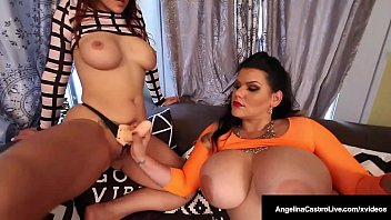 Strap on Sluts Angelina Castro & Miss Raquel Bang That Pussy