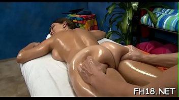 Hot babe plays with wang