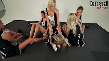 6 Girls Orgy Sexfight For The Alpha Female Maid preview image