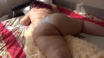 Casual, ordinary morning Russian bbw with a big ass, fetish.