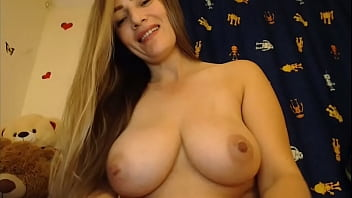 Colombian playing with big tits