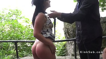 Big ass Hungarian whipped in public