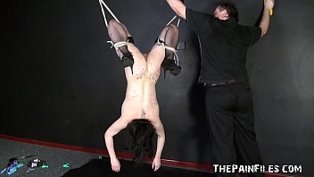 Sex toy domination and suspension bondage of kinky fetish model Isabel Dean in h