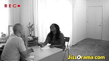 JizzOrama - Chubby Black Women Falls In Love With This White Dick