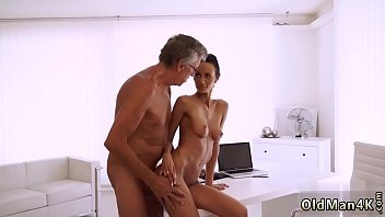 Teen loves old cock and man fucks young woman Finally she's got her