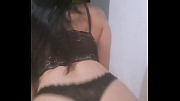Hot brunette kneeled and drank all the cum