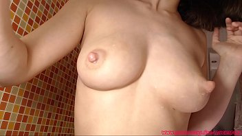 Wet milky tits Hot mom with big milk tits showing her sweet body in shower