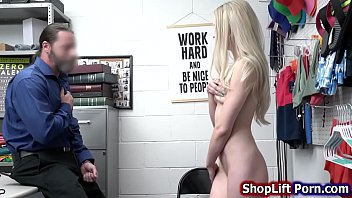Skinny blonde blows and rides security