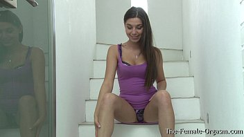 Finger yourself in the ass 21 year old diana dolce masturbates to orgams on the stairs