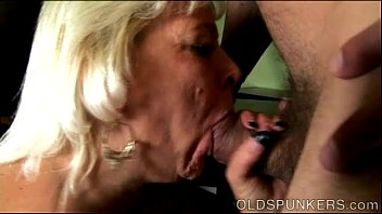 Granny drinks cum Super sexy old spunker gives an amazing sloppy blowjob