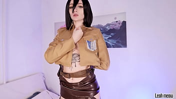 Mikasa gets DP with real dick
