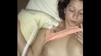 Massive fake titted slut didn't want the facial but this slut took my nut