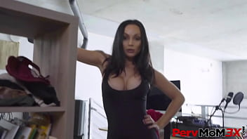 PervMoM3X - Stepmom Crystal Rush exposes her incredible tits, and just like that, her stepsons dick is rising like a souffle in an oven.