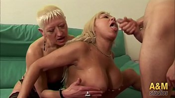 The mature women fuck the boy of the house and the gardener's newbie.