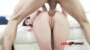 Redhead slut Chelsy Sun DAP'ed & assfucked by 2 guys SZ1313