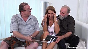 Old-n-Young.com - Riana G - Cutie gets old sandwich for help 6 min
