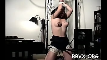 Racy girlie who likes to ride her dildo