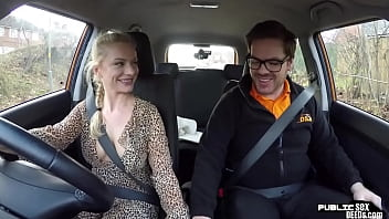 Busty euro publicly fucked before bj in car