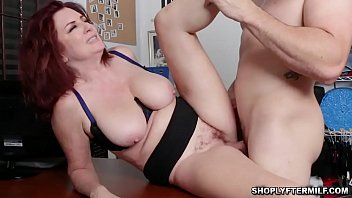 Redhead milf Andi James guilty of stealing underwear and gets punished