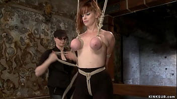 Gagged And Bound Busty Lesbian Slave