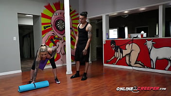 Bruno gets his cardio ON by subduing steamy trainer with big tits