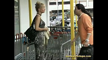 Erotic private photo German lady is picked up at store