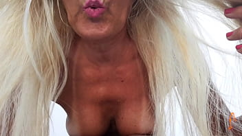 exhibitionist hot wife showing her all tanned body