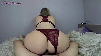 He fucks the big ass of his neighbor slut in hot sexy lingerie! pornhub video