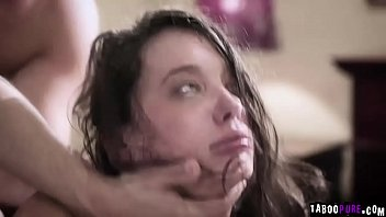 Amazing double penetration Teen gia paige is close to crying while she gets brutally double penetrated
