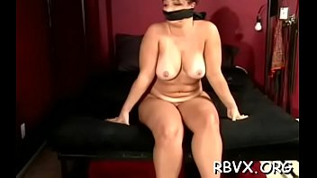 Big bold guy has no mercy for cute hotty as he bounds her tight