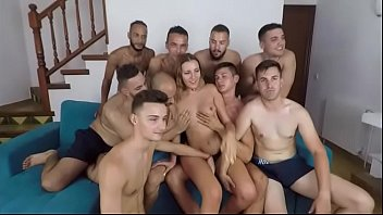 Gala (19) is so horny that she wants to get fucked by 9 STUDS!