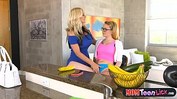 Stepmom busts horny teen and helps her out with that