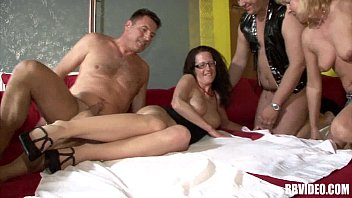 German swingers fucking in foursome