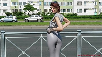 Flickr mature tight pants miniskirts Sexy natalia walks down the street in tight leggings